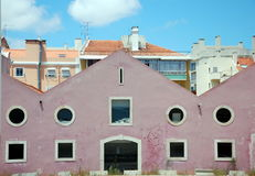 Ladingsterminal in Lissabon, Portugal Royalty-vrije Stock Foto's