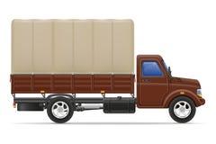 Ladingsvrachtwagen voor vervoer van goederen vectorillustratie Royalty-vrije Stock Foto's