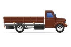 Ladingsvrachtwagen voor vervoer van goederen vectorillustratie Royalty-vrije Stock Afbeelding