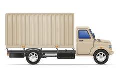 Ladingsvrachtwagen voor vervoer van goederen vectorillustratie Stock Fotografie