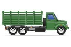 Ladingsvrachtwagen voor vervoer van goederen vectorillustratie Royalty-vrije Stock Fotografie
