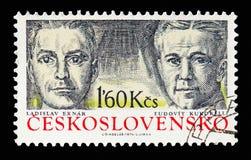 Ladislav Exnar και Ludovit Kukorelli, διοικητές ανταρτών και FI στοκ εικόνα