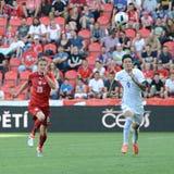 Ladislav Krejci. Hyunjun Suk. PRAGUE 05/06/2015 _  Friendly match Czech Reublic - South Korea Stock Photography