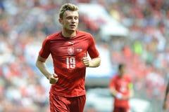 Ladislav Krejci. PRAGUE 05/06/2015 _ Friendly match Czech Reublic - South Korea Royalty Free Stock Image