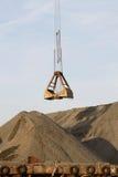 Ladle crane port. Unloads gravel Stock Photos
