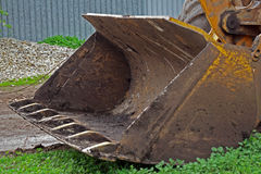 Ladle of an excavator at  construction site Stock Photography