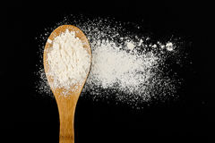 Ladle with flour Stock Image