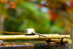 Ladle in Japanese temple Royalty Free Stock Photography