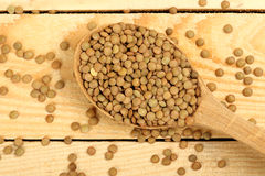Ladle of lentils Royalty Free Stock Photography