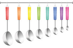 Ladle Rack Different Sizes Stock Photography