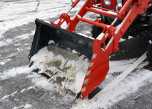 Ladle of the snowblower Royalty Free Stock Photos