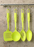 Ladle, spoon and kitchen utensils Royalty Free Stock Photo
