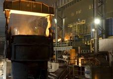 Ladle of steel Stock Photo