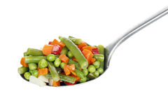 Ladle of vegetables Royalty Free Stock Images