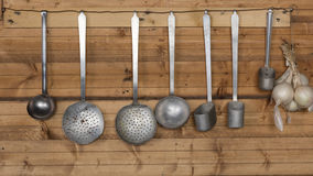 Ladles in the kitchen Royalty Free Stock Photography