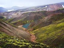 Ladmannalaugar, Hooglanden van IJsland Royalty-vrije Stock Fotografie