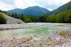 Ladnscape stupefacente della Slovenia contenuta alpi Immagini Stock Libere da Diritti