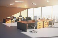 Lado anaranjado de la oficina Imagen de archivo libre de regalías