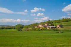 Lado calmo do país de Itália durante o verão Imagem de Stock