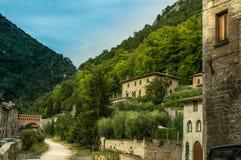 Lado contry de Gubbio Foto de archivo libre de regalías