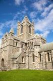 Lado da catedral da igreja de Christ foto de stock