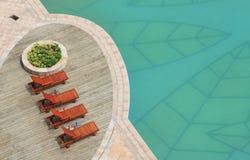 Lado da piscina Imagens de Stock Royalty Free