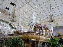 Lado da tabela Mahayana PBA budista Anson Road Penang do altar imagem de stock royalty free