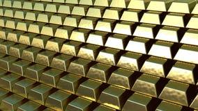Lado das barras de ouro Foto de Stock Royalty Free