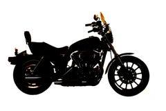 Lado de la motocicleta de la silueta Imagen de archivo