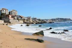 Lado de la playa y de mar Fotografía de archivo