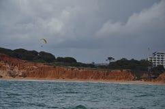 Lado de mar de Albufeira no Algarve!! Fotografia de Stock
