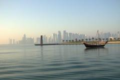 Lado de mar de Doha Corniche imágenes de archivo libres de regalías