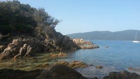 Lado de mar en Corse Fotos de archivo libres de regalías