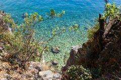 Lado de mar hermoso Foto de archivo libre de regalías