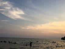 Lado de mar hermoso de Camboya fotos de archivo libres de regalías