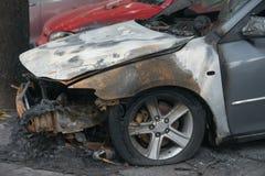 Lado de um carro para fora queimado Imagens de Stock