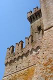 Lado de um castelo da Idade Média em Itália central Fotos de Stock Royalty Free