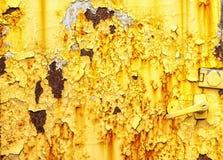 Lado de uma caixa oxidada do metal Imagens de Stock
