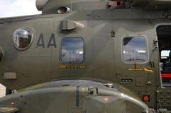 Lado de un AgustaWestland AW101 Merlin Helicopter Imágenes de archivo libres de regalías