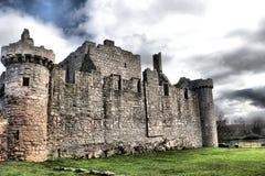 Lado del castillo histórico de Craigmillar, Edimburgo, imagen de archivo