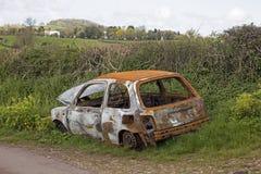 Lado del coche del camino Foto de archivo libre de regalías