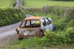 Lado del coche del camino Imágenes de archivo libres de regalías