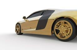 Lado del coche del oro Imágenes de archivo libres de regalías