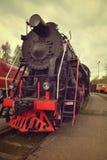 Lado del frint del tren del tren del vapor del viejo estilo Foto de archivo libre de regalías