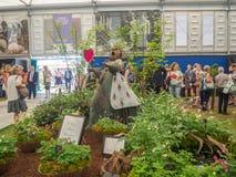 Lado derecho Chelsea Flower Show 2017 El ` s del mundo la mayoría de la exhibición floral prestigiosa que exhibe el mejor en dise Imagen de archivo