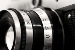 Lado direito objetivo da câmera velha da foto do russo Imagem de Stock Royalty Free