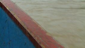 Lado do barco e da água vídeos de arquivo
