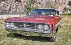 Lado do carro clássico no vermelho Fotos de Stock