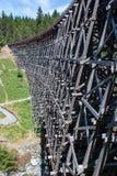 Lado do cavalete Railway de madeira Fotos de Stock Royalty Free