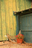 Lado do celeiro velho Imagem de Stock